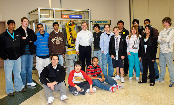 ChampionNow - Founder Terry Iverson with group of students